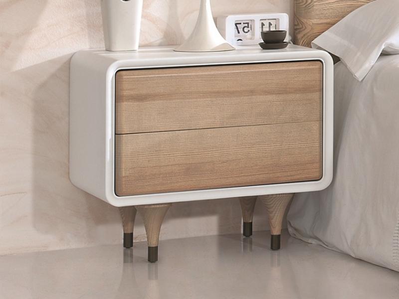 Dormitorio en madera de fresno. Mod: NORDIC POLIPIEL 500