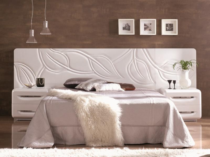 Dormitorio con cabecero corrido, mod: HOJAS CORRIDO