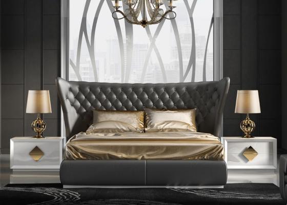 Dormitorio con cabecero  tapizado. Mod. CARMEN