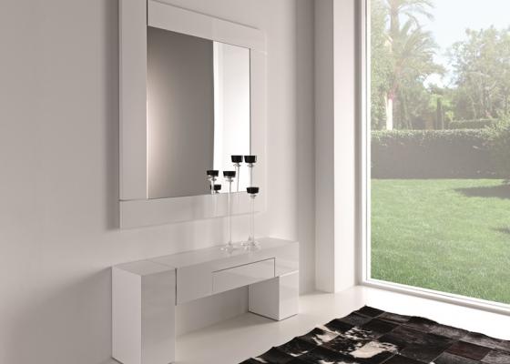 Conjunto consola y espejo, mod: NOVO