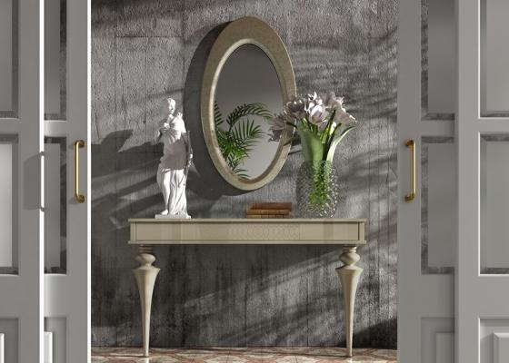 Conjunto consola y espejo, mod: OLEANA