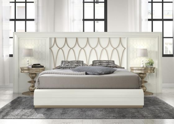Dormitorio con cabecero extra largo, mod: GA23