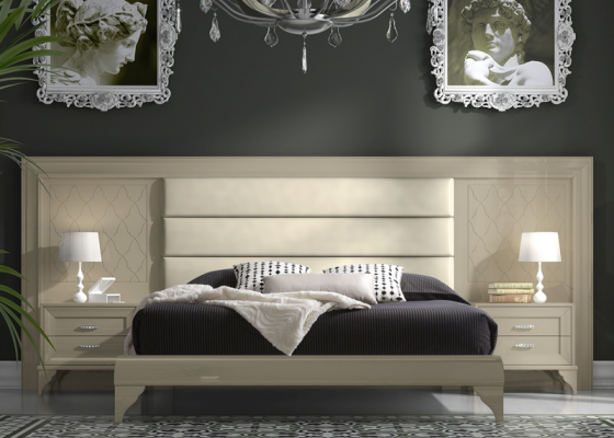 Dormitorio con cabecero de ancho, mod: GA22