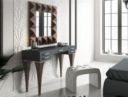 Conjunto de tocador , espejo y banqueta, mod: BELL04