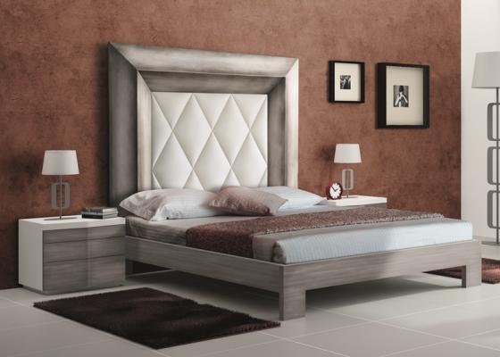 Dormitorio con cabecero tapizado, mod: GORDON ALTO