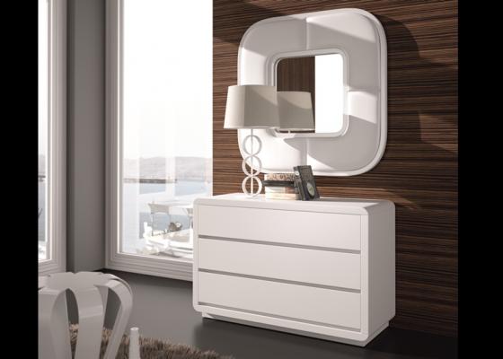 Conjunto de cómoda y espejo, modelo: SCARLETT