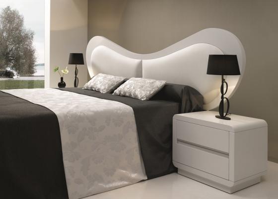 Dormitorio con cabecero  tapizado, mod: SCARLETT