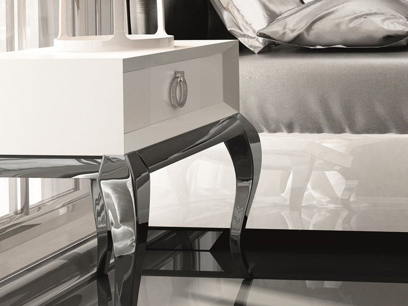 Dormitorio con cabecero tapizado, mod: BADRA