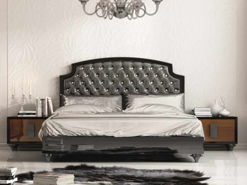 Dormitorio con cabecero tapizado, mod: MALAK