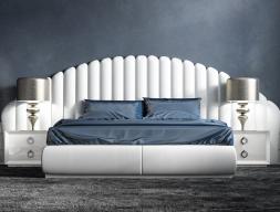 Dormitorio con cabecero tapizado, mod: ABBAS