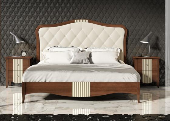 Dormitorio tapizado en capitonné,mod: ISABELLA