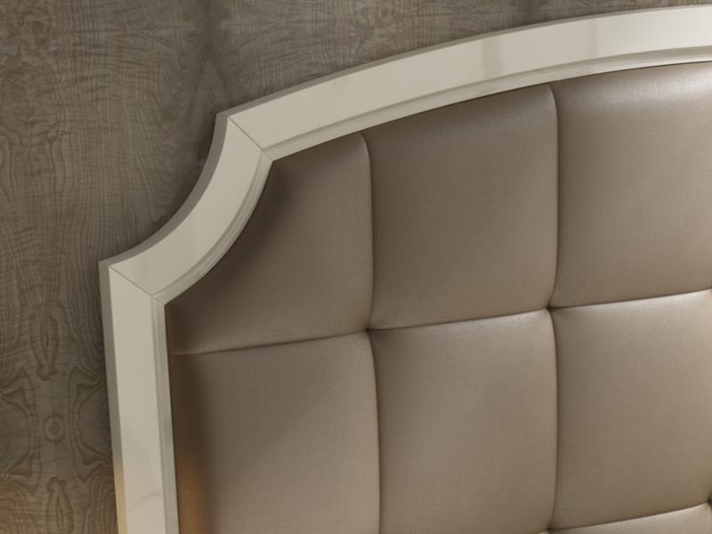 Dormitorio lacado y tapizado,mod: ALMA