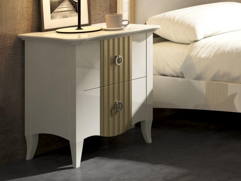 Dormitorio tapizado y lacado,mod: FRANCESCA