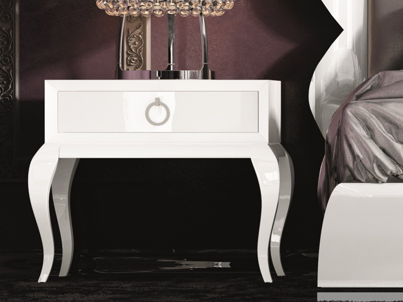 Dormitorio con cabecero tapizado, mod: HANA