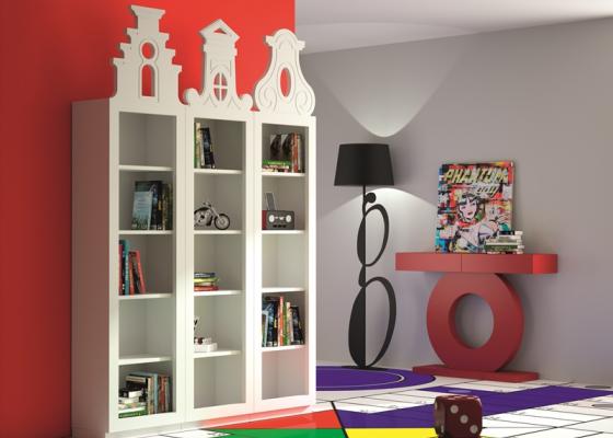 Conjunto de estantería librería de 15 huecos.Mod: AMSTERDAM