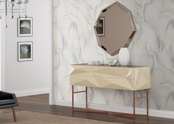 Conjunto de consola y espejo, mod: TOULOUSE