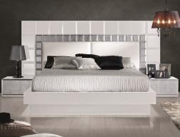 Dormitorio lacado, modelo: NATASSIA BLANCO ( MODELO ORIGINAL)