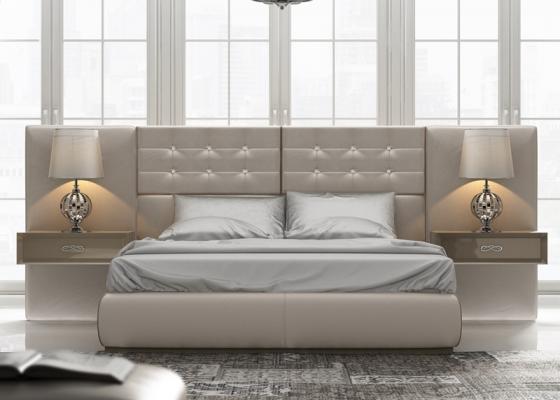 Dormitorio tapizado y lacado, mod: ZAHINA