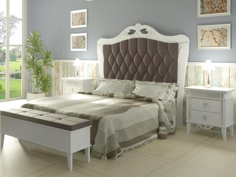 Dormitorio lacado y tapizado,mod: QUEEN 1