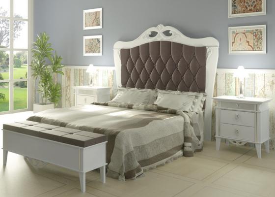 Dormitorio lacado y tapizado,mod: ROYAL04