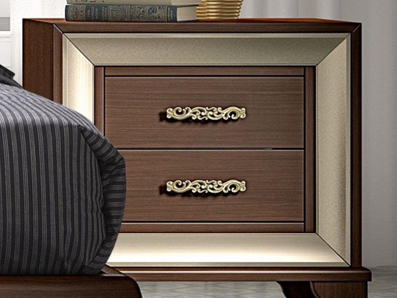 Dormitorio con cabecero tapizado, mod: GA15