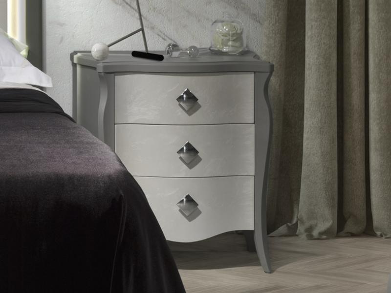 Dormitorio lacado con luz. Mod: ARCO IRIS