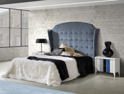 Dormitorio tapizado y lacado. Mod: VIENA