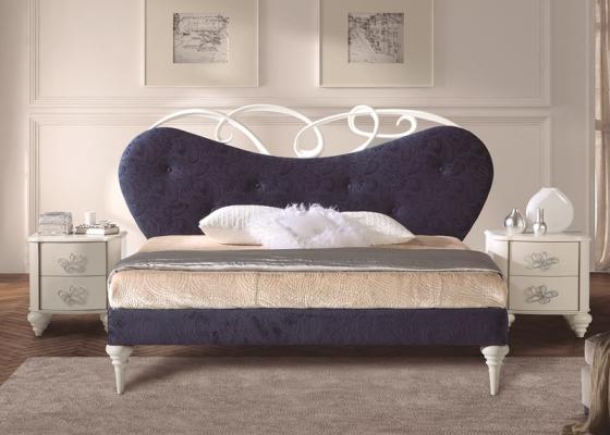 Dormitorio tapizado y lacado. Mod: SYROS