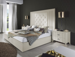 Dormitorio tapizado y lacado. Mod: LOYRA