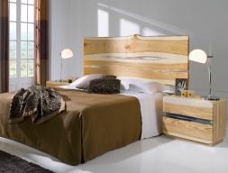 Dormitorio en madera de fresno. Mod: AMBAR