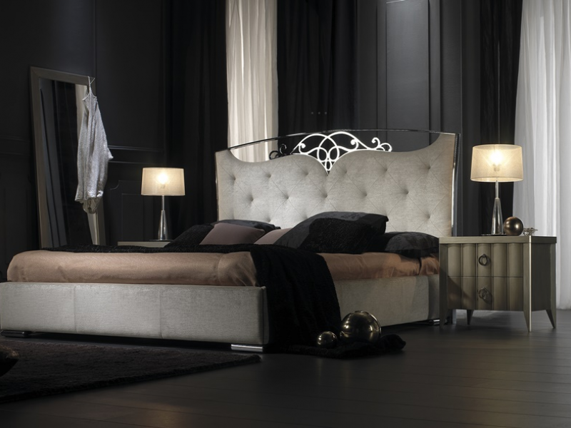 Dormitorio lacado y tapizado. Mod: ILUSI�N