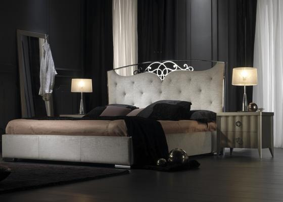 Dormitorio lacado y tapizado. Mod: ILUSIÓN