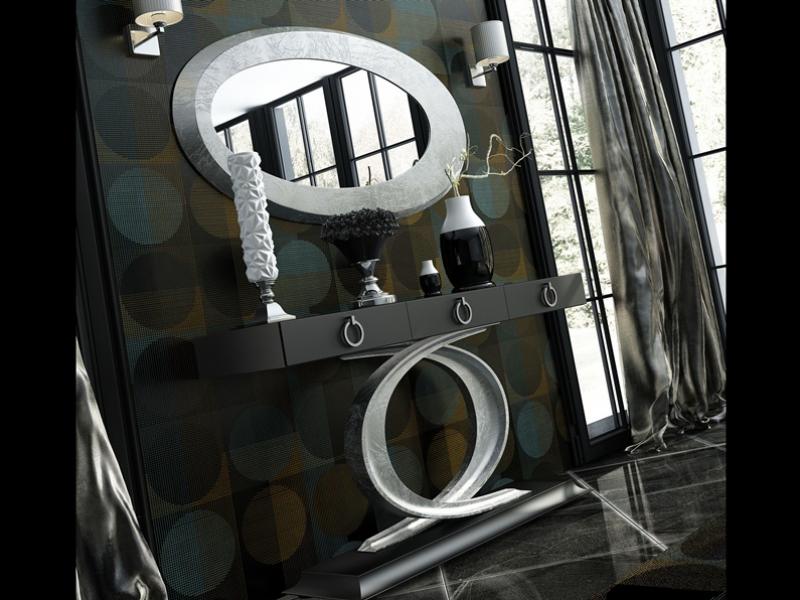 Conjunto de consola y espejo. Mod: EIFFEL PL
