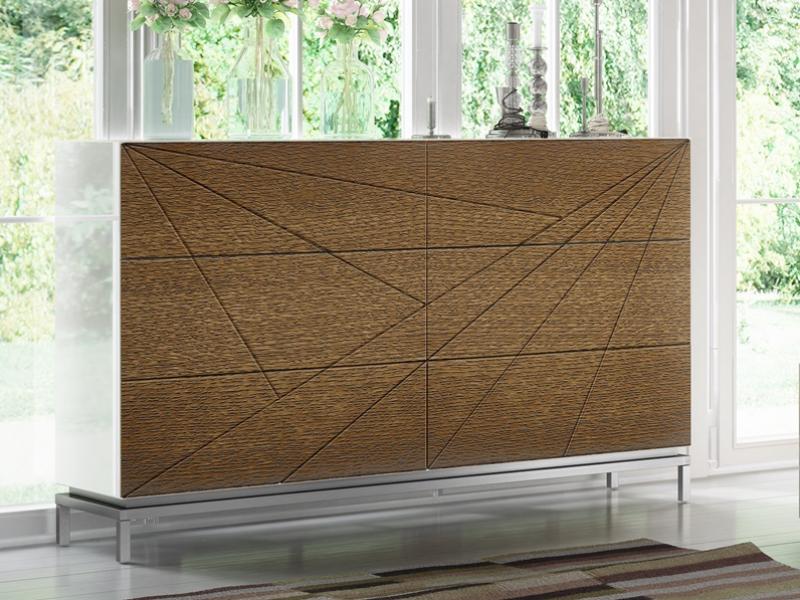 Dormitorio lacado y en madera de roble. Mod: IKU XXL
