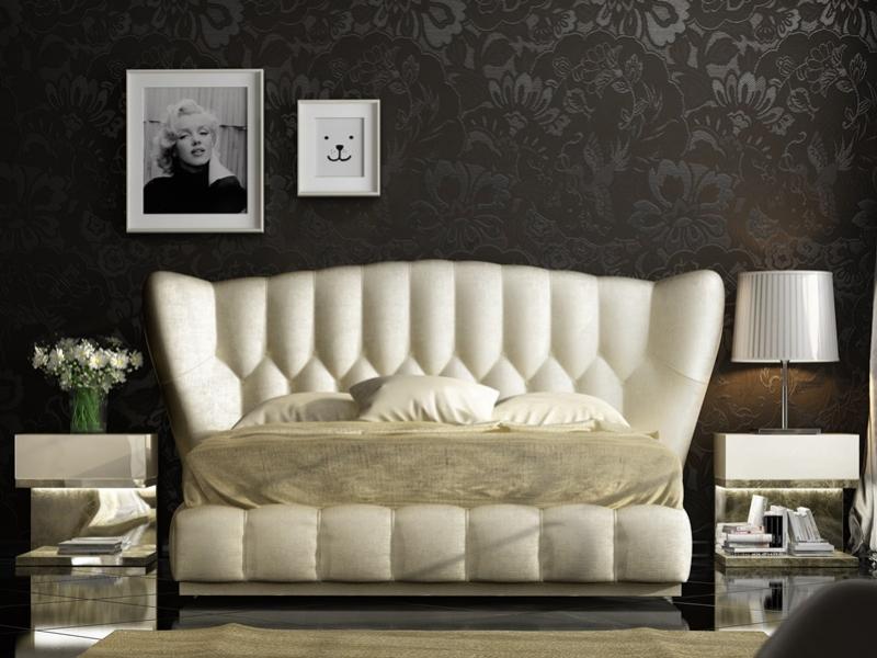 Dormitorio tapizado y lacado. Mod: ZARAH