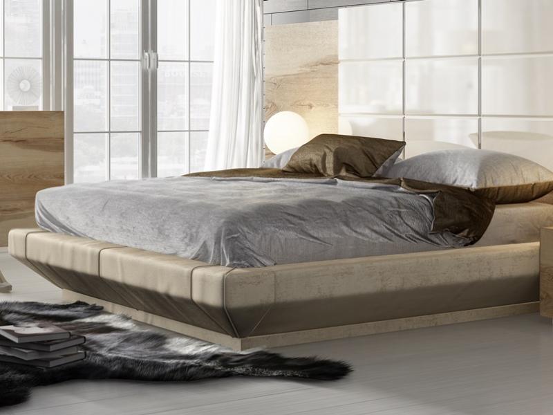 Dormitorio en madera de roble con detalles lacados. Mod. SOPHIA