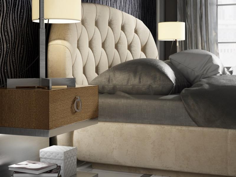 Dormitorio tapizado y  lacado. Mod: ALYSSA