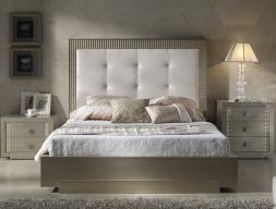 Dormitorio lacado y tapizado. Mod: DIAMANTE CHAMPAGNE
