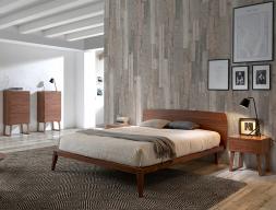 Dormitorio en madera de nogal. Mod. NOTTE