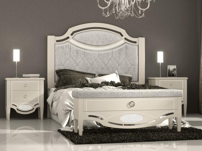 Dormitorio lacado y tapizado en capiton�. Mod: SUITE CLASSIC