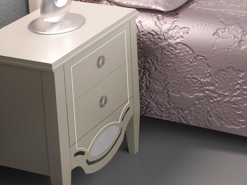 Dormitorio lacado y tapizado en capiton�. Mod: SUITE CAPITON�