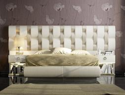 Dormitorio tapizado de diseño . Mod: NOOR