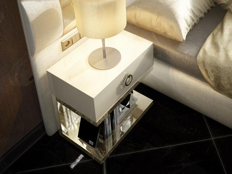 Dormitorio tapizado de dise�o . Mod: NOOR