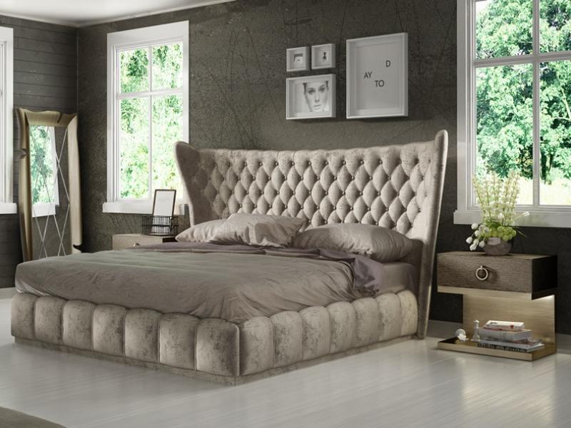 Dormitorio en madera de roble y tapizado: Mod: SASHA