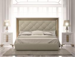 Dormitorio lacado y tapizado en capitonne con botones. Mod: TABIA