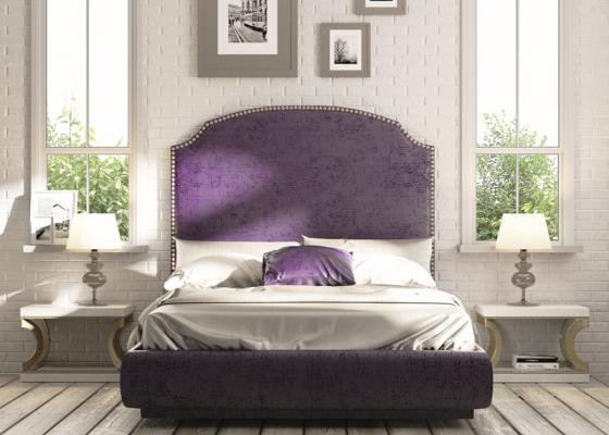 Dormitorio tapizado con tachuelas.Mod: NUBIA