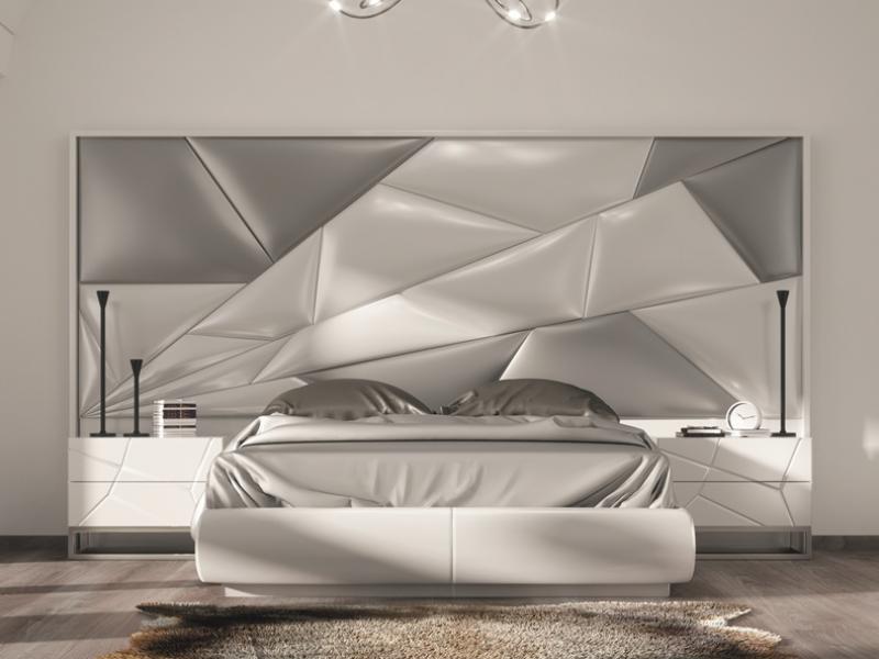 Dormitorio lacado y tapizado.Mod: SABBA