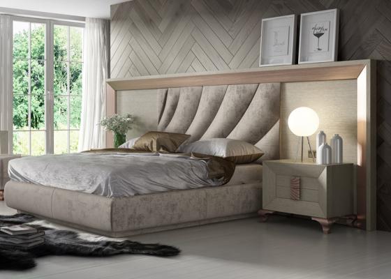 Dormitorio tapizado en roble. Mod:DUNE