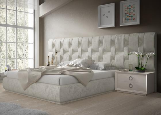 Dormitorio tapizado de diseño. Mod: LALEH