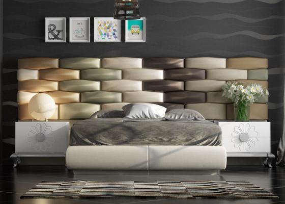 Dormitorio tapizado de diseño. Mod: FADILA
